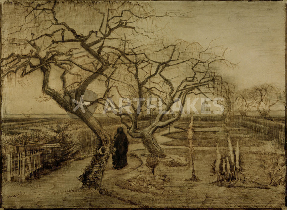 Vvan Gogh Garten Im Winter Picture Art Prints And Posters By Akg