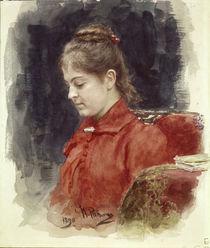 Ilja Repin, Bildnis J.Lawrowa/ 1890 by AKG  Images