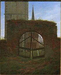 C.D.Friedrich, Das Friedhofstor by AKG  Images