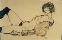 Egon Schiele, Liegender Frauenakt by AKG  Images