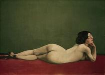 F.Vallotton,Liegender Akt auf rotem Tepp by AKG  Images