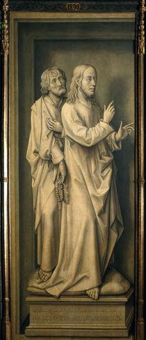 Rogier v.d.Weyden, Christus und Juenger by AKG  Images