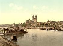 Magdeburg mit Elbe und Dom /Photochrom von AKG  Images