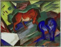 Franz Marc, Rotes und blaues Pferd by AKG  Images