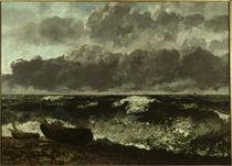 Courbet, Das stuermende Meer o. Die Woge von AKG  Images