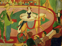 A.Macke, Circusbild I: Kunstreiterin by AKG  Images