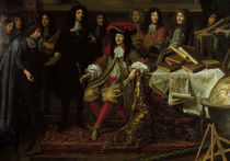 Ludwig XIV. u.Akademie d.W./ Testelin by AKG  Images