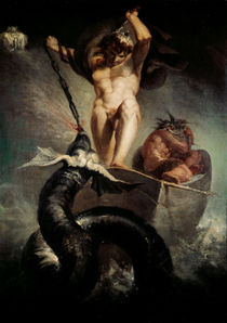 Fuessli/Thor   Midgardschlange/Gem.1788 by AKG  Images