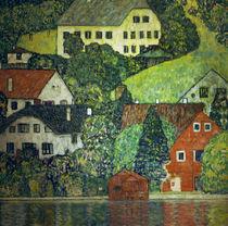Gustav Klimt, Haeuser in Unterach by AKG  Images