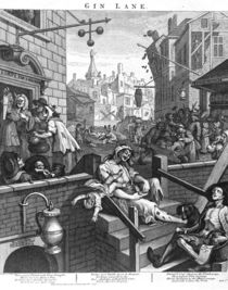 Hogarth, Gin Lane von AKG  Images