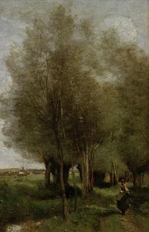 C.Corot, Baeuerin auf dem Feld by AKG  Images