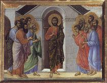 Duccio, Christus erscheint Juengern by AKG  Images
