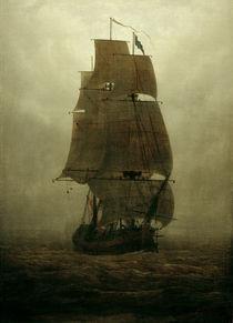 C.D.Friedrich, Segelschiff im Nebel von AKG  Images