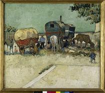 Van Gogh / Zigeunerlager mit Pferdewagen von AKG  Images