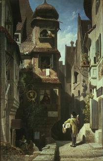 Spitzweg/Briefbote im Rosenthal/um 1859 von AKG  Images