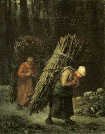J.F.Millet, Reisigtraegerinnen/ um 1858 von AKG  Images