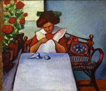 August Macke, Grete Thuar am Tisch by AKG  Images
