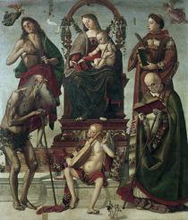 L.Signorelli, Thronende Maria u.Heilige by AKG  Images