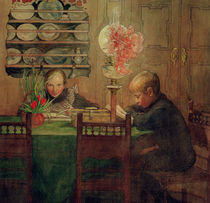 Carl Larsson, Schularbeiten by AKG  Images