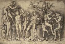 A.Mantegna, Bacchanal mit dem Weinfass von AKG  Images