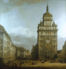Dresden, Kreuzkirche / Bellotto von AKG  Images