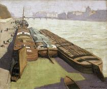 F.Vallotton, Lastkaehne am Seine Ufer von AKG  Images