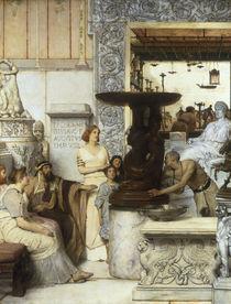 L.Alma Tadema, Eine Skulpturensammlung by AKG  Images