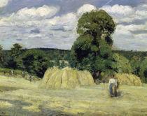 C.Pissarro, Getreideernte in Montfouc. by AKG  Images