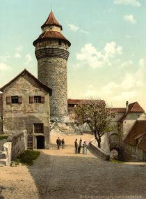 Nuernberg, Burg, Sinwellturm / Photochrom von AKG  Images