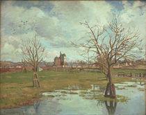 C.Pissarro, Landschaft m. ueberschwemmten von AKG  Images
