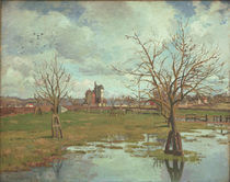 C.Pissarro, Landschaft m. ueberschwemmten by AKG  Images