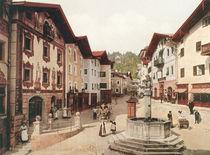 Berchtesgaden, Marktplatz / Photochrom von AKG  Images