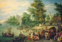 J.Brueghel d.Ae., Landungssteg by AKG  Images