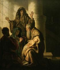 Rembrandt, Simeon im Tempel by AKG  Images