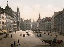 Muenchen, Marienplatz / Photochrom von AKG  Images