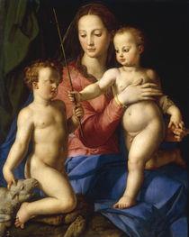 A.Bronzino, Madonna m. Kind u. Johannes. by AKG  Images