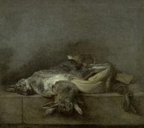 Chardin, Kaninchen, Jagdtasche, Pulverh. von AKG  Images