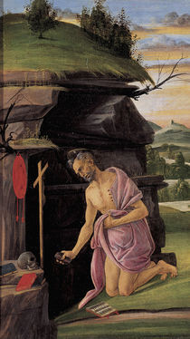 Botticelli, Hieronymus in der Wueste by AKG  Images