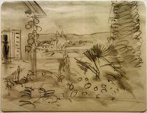 A.Macke, Gartenhaus im Rhonetal, 1914 von AKG  Images