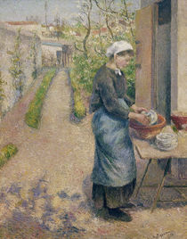 C.Pissarro, Die Geschirrspuelerin by AKG  Images