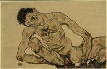 Egon Schiele, Selbstbildnis als Akt von AKG  Images