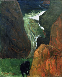P.Gauguin, Landschaft mit Kuh von AKG  Images