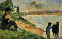 G.Seurat, Studie zu Badeplatz von AKG  Images