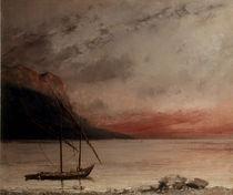 G.Courbet, Sonnenuntergang von AKG  Images