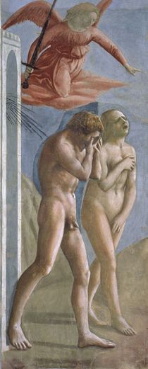Masaccio, Vertreibung aus dem Paradies von AKG  Images