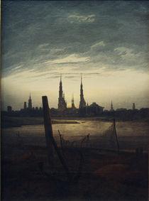 C.D.Friedrich, Stadt bei Mondaufgang by AKG  Images