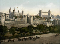 London, Tower u. Tower Bridge / um 1900 von AKG  Images