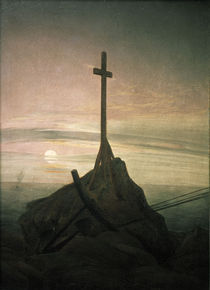 C.D.Friedrich, Kreuz an der Ostsee/1808 by AKG  Images