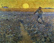 Van Gogh/ Saemann bei untergehender Sonne von AKG  Images