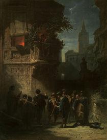 Spitzweg/Spanisches Staendchen/1855-56 von AKG  Images